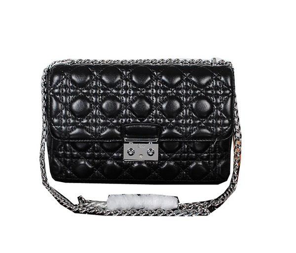 MISS DIOR Shoulder Bag in Original Leather D0911 Black