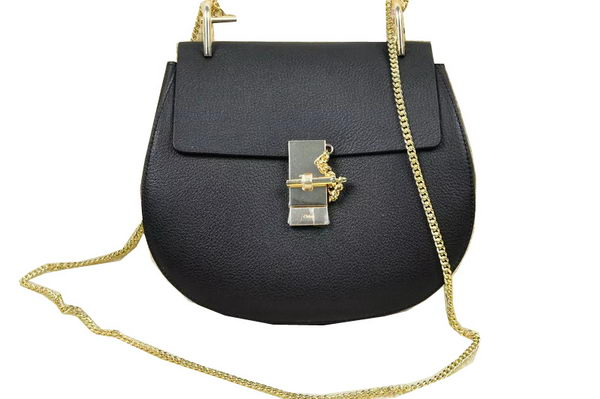 CHLOE Drew Original Leather Shoulder Bag 20828 Black