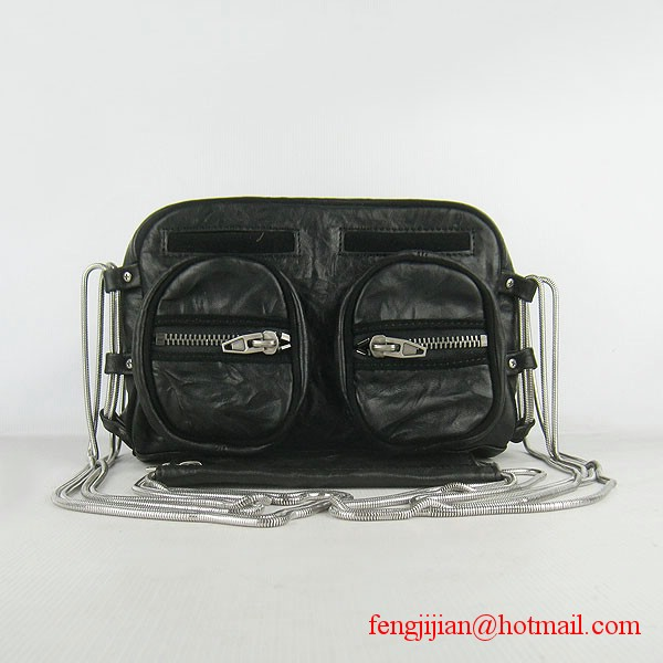 Alexander Wang Brenda Zip Shoulder Bag 63471 Black