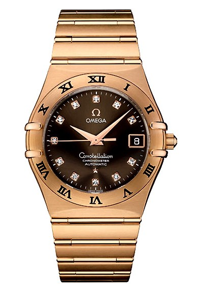 Omega Constellation Chronometer 18k Rose Gold Mens Automatic COSC Wristwatch 1103.60.00