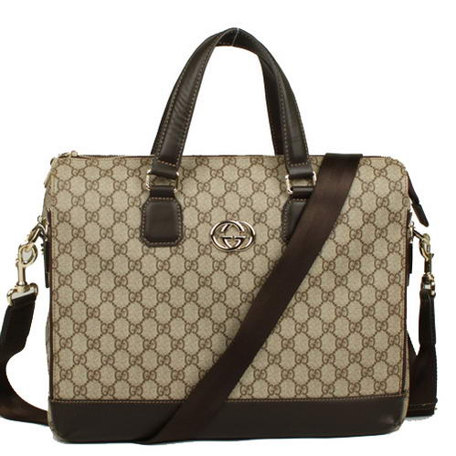 Gucci GG Fabric Boston Bag 289180 Brown