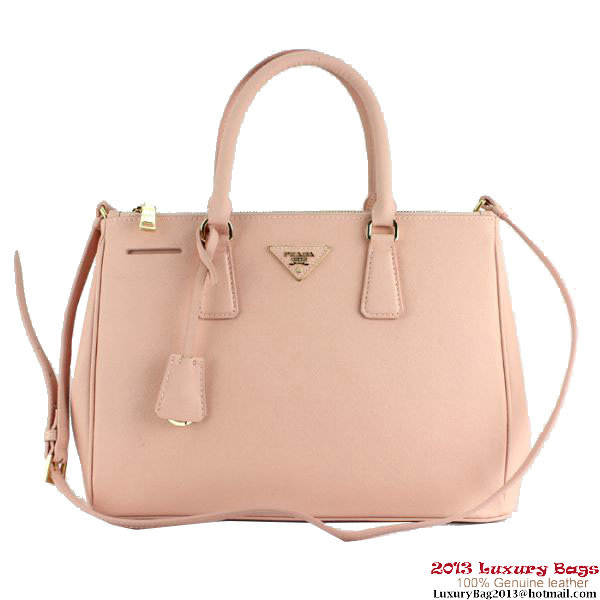 2013 Prada Saffiano Calf Leather Tote Bag 2274 Pink