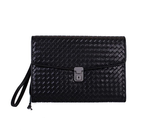 Bottega Veneta Intrecciato Leather Clutches BV90571 Black