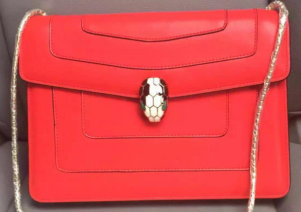 BVLGARI Shoulder Bag Calfskin Leather BG90072 Red