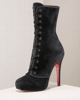 Christian Louboutin Miss Corset Lace-Up Ankle Boot