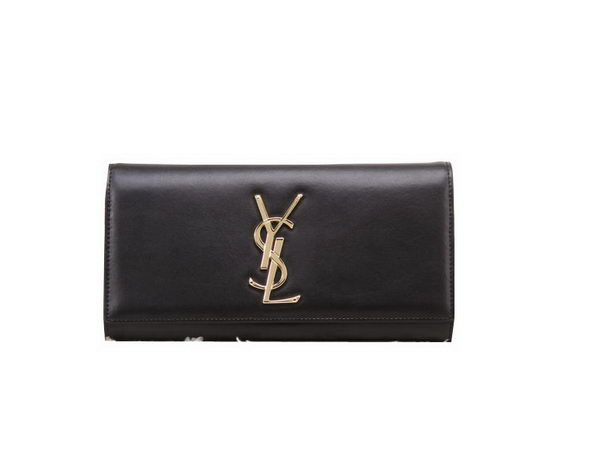 YSL Classic Monogramme Clutch Bag Smooth Leather Y8909 Black
