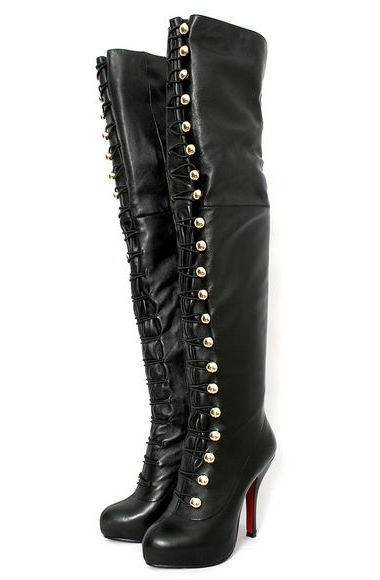 Christian Louboutin Supra Fifre 120 Thigh-High Leather Boots