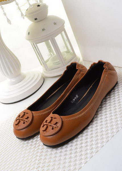 Tory Burch Ballerina Sheepskin Leather TB1490 Brown