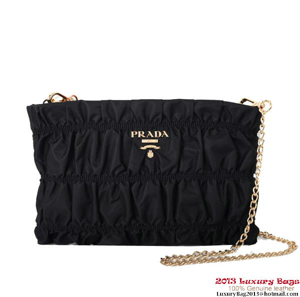 Prada Gaufre Nappa Leather Clutch BP0237 Black