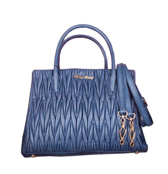 miu miu Iridescent Leather Three-pocket Bag BN1207 RoyalBlue