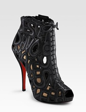 Christian Louboutin Let Me Tell You Ankle Boots in All Black