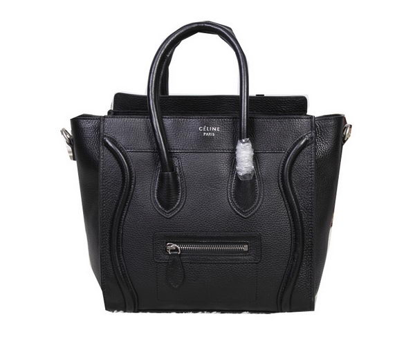 Celine Luggage Micro Tote Bag Original Grainy Leather 88023 Black