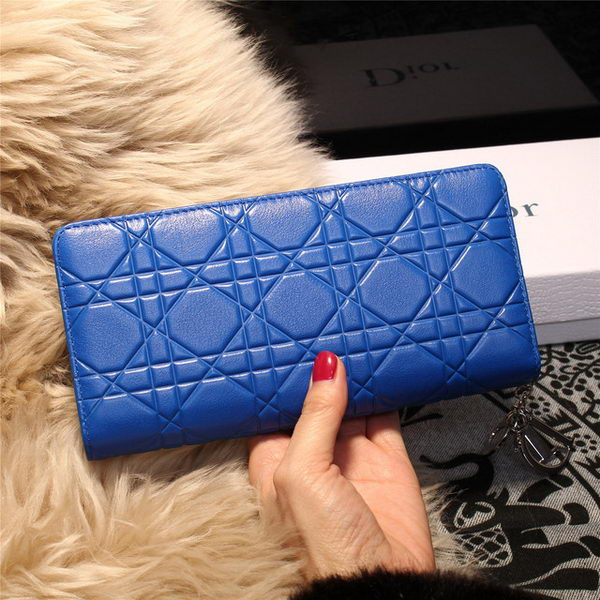 Dior Escapade Wallet in Sheepskin Leahter D1875 Blue