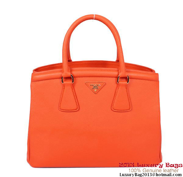 Prada Saffiano Leather Tote Bag PR6015 Orange