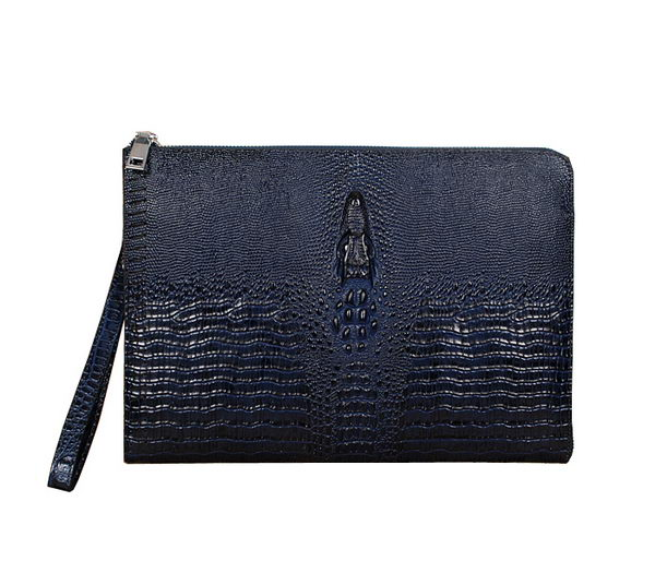 Cartier Croco Leather Clutch 35185 RoyalBlue
