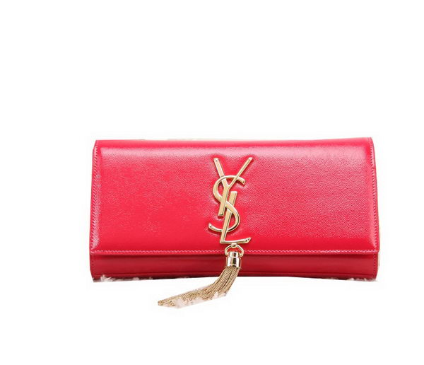YSL Classic Monogramme Tassel Patent Leather Clutch Bag Y8908 Red
