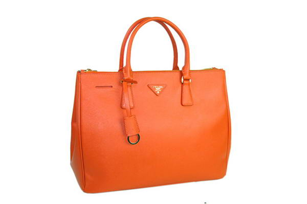 2012 Latest Prada Claaic Saffiano Calf Leather Totes BN1802 Orange