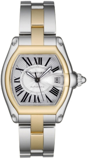 Cartier Roadster Series 18k Yellow Gold and Stainless Steel Mens Automatic Wristwatch-W62031Y4