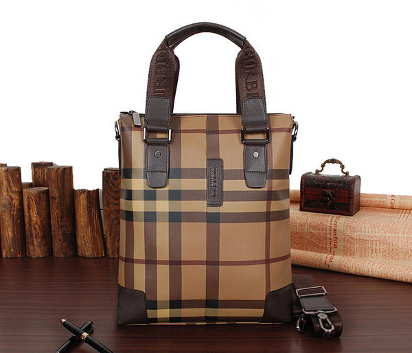 Burberry Smoked Check Mens Tote Bag 862639732 Brown