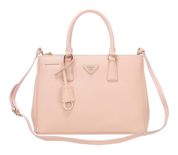Prada BN2274 Light Pink Saffiano Calfskin Leather Tote Bag