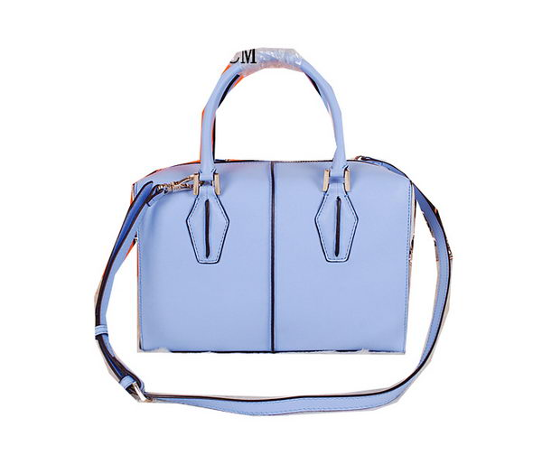 Tods Sella Small Bowler Bag 88790 SkyBlueWhite