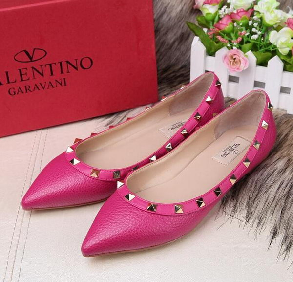 Valentino Sheepskin Leather Rivet Flat VT213YZM Rose
