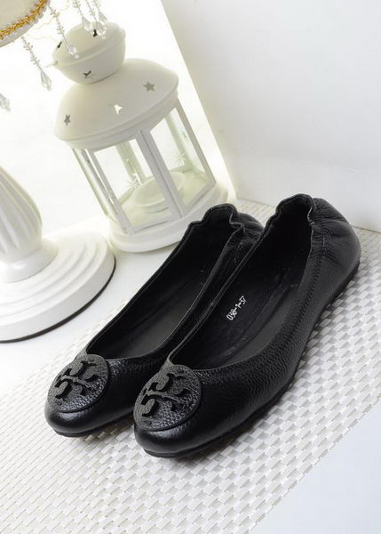 Tory Burch Ballerina Sheepskin Leather TB1490 Black