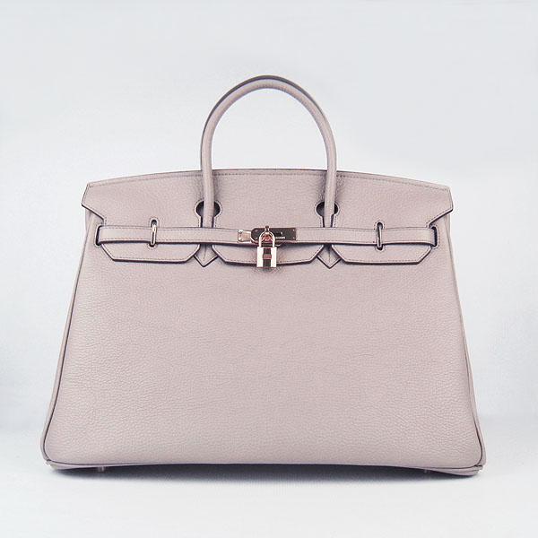 Hermes Birkin 40CM Togo Bag Grey 6099 Gold