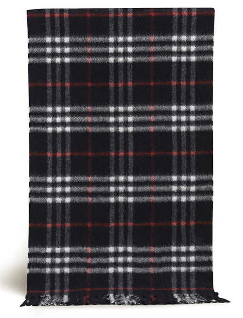 Burberry Cashmere Black Nova Check Scarf