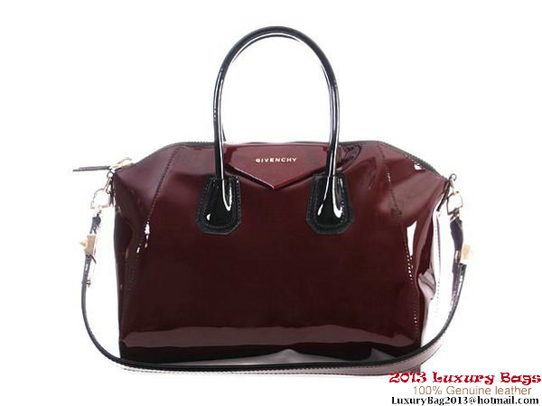 Givenchy Antigona Bag Patent Leather 9981 Wine