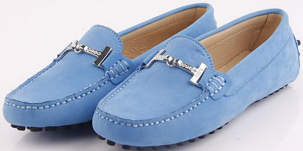 Tods Ballerina Suede Leather TO248 Blue