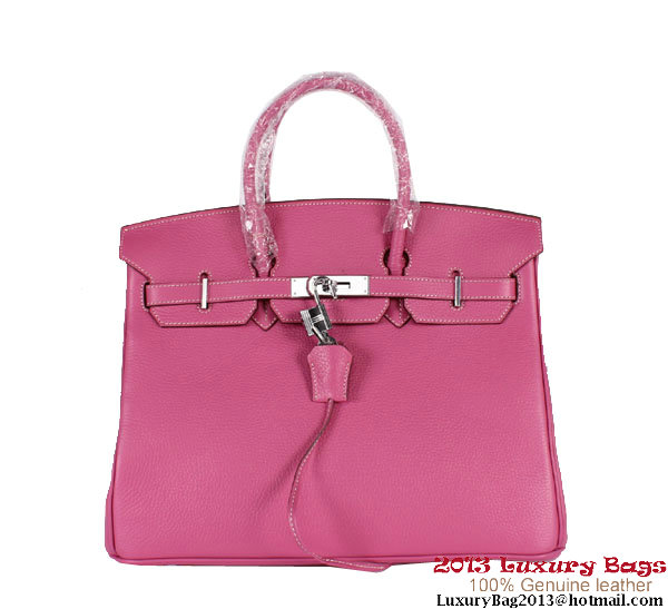 Hermes Birkin 35CM Tote Bag Clemence Leather H-35 Peach