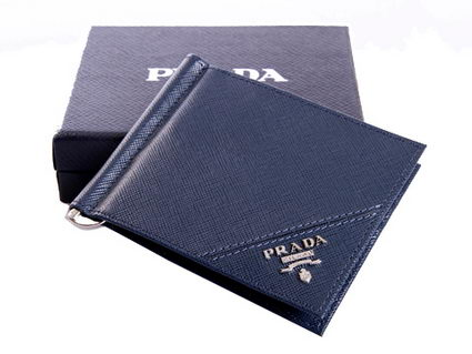 Prada Saffiano Calf Leather Wallet 1M1077 RoyalBlue
