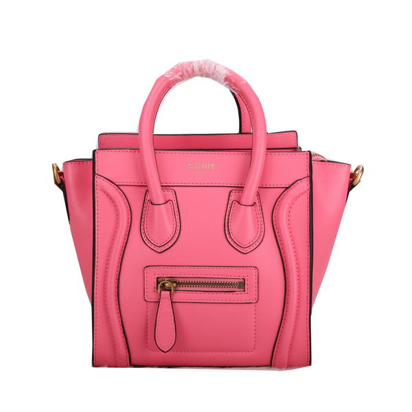Celine Luggage Nano Bag Smooth Leather C106 Pink