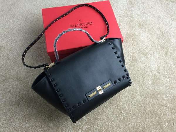 Valentino Garavani Rockstud Shopping Bag Original Leather VO1920 Black
