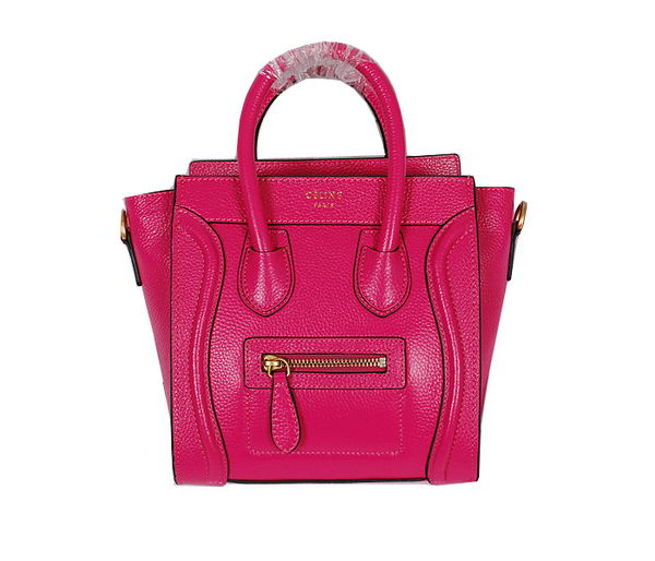Celine Luggage Nano Bag Grainy Leather CL106 Rose