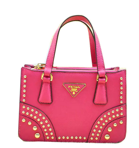 Prada Saffiano Leather Tote Bag B1142B Rose
