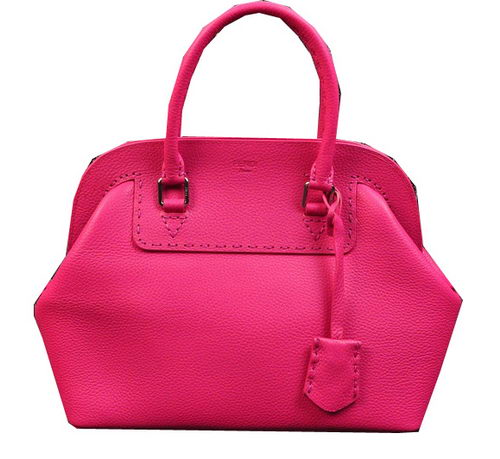 Fendi Adele Tote Bags Original Leather 20801 Pink