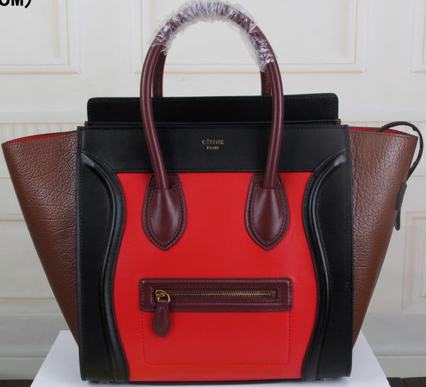 Celine Luggage Mini Tote Bag Original Leather CLY33081L Red