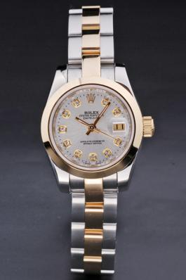 Rolex Datejust White&Golden Stainless Steel 25mm Watch-RD3787