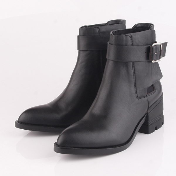 Alexander Wang Sheepskin Leather Ankle Boot AW090 Black