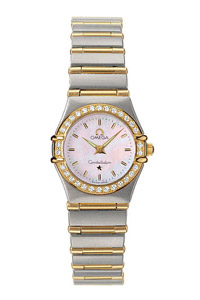 Omega Constellation 18kt Yellow Gold Mini Ladies Diamonds Watches 1267.70.00