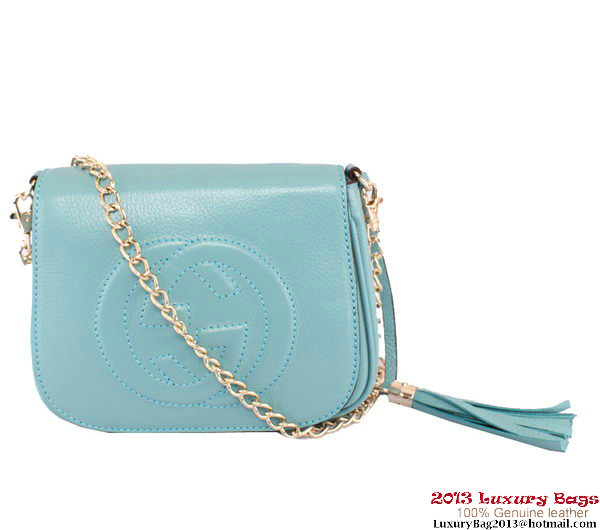 Gucci Soho Leather Chain Shoulder Bag 323190 RoyalBlue