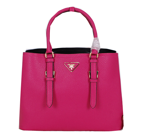 Prada Grainy Cuir Leather Tote Bag BN2821 Rose