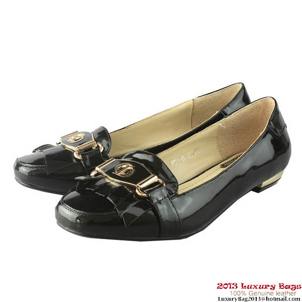 Dior Patent Leather Flat DIOR0115 Black