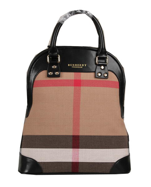 Burberry Brit Check Tote Bag BU8811 Black