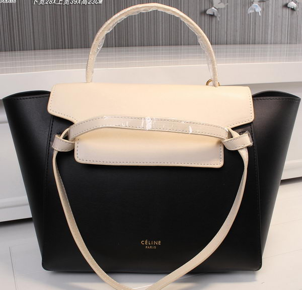 Celine Belt Bag Original Leather C3398T Black&White