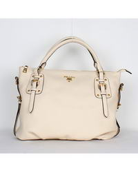 Prada Milled Leather Tote Bags YZ-6047 Beige