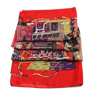 2011 Hermes Silk Scarf Red