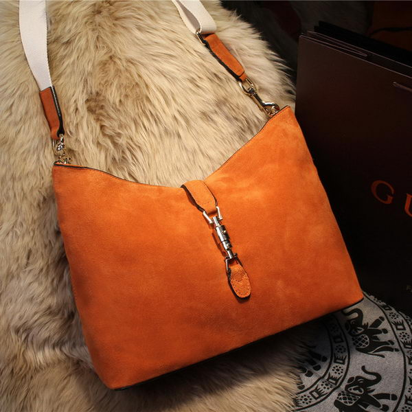 Gucci New Jackie Shoulder Bag Suede Leather 246907 Wheat